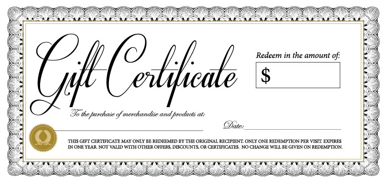 print gift certificates | template